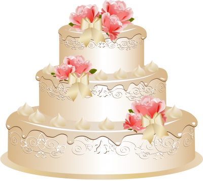 Red Rosas Wedding Cake Png Images