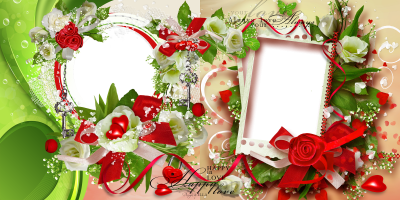 Transparent Wedding Frame Picture