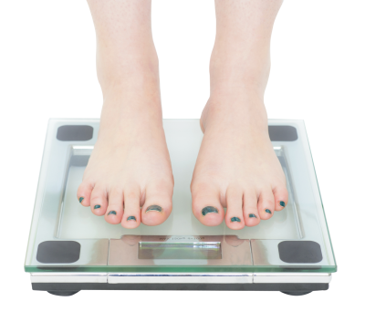 Woman Standing On Bathroom Scale Png Image PNG Images