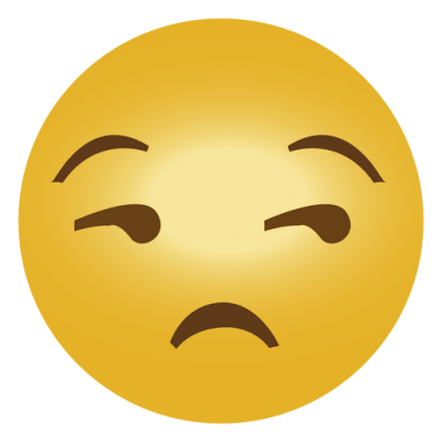 Dissatisfied Angry Whatsapp Emoji With One Eye Crossed HD Download PNG Images