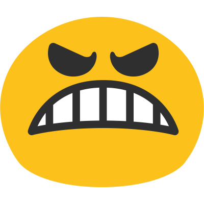 Angry Whatsapp Emoji Picture That Clenches Your Teeth Clipart PNG Images