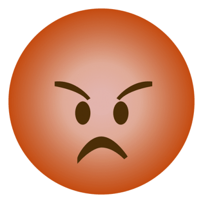 Fried Whatsapp Angry Emoji Background Photo PNG PNG Images