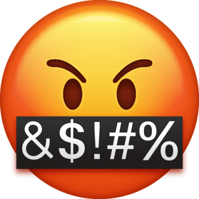 Swearing Angry Whatsapp Emoji, Nervous, Swearing, Bad Word Transparent Photo PNG Images