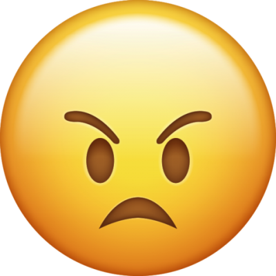 PNG Frowning Yellow Angry Whatsapp Emoji