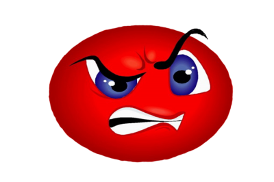 Transparent Red Blue Eyes Angry Whatsapp Emoji PNG Images