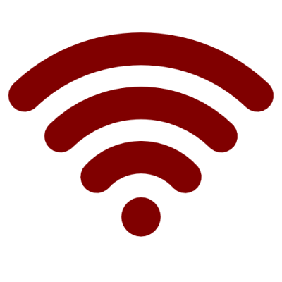 Red Maroon Wifi Icon Png