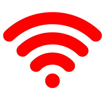 Simple Red Wifi icon Png PNG Images