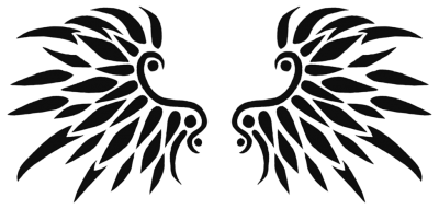 Black Wings Tattoo Design PNG Images