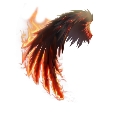 Fire Wing Angel Png PNG Images
