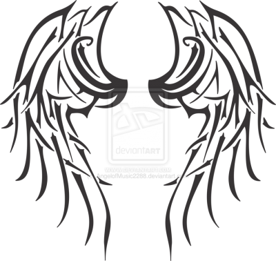 Tribal Wings Tattoos Png PNG Images
