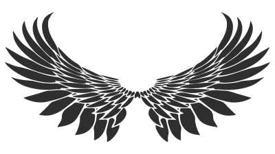 Wings Band Logo Tattoo PNG Images