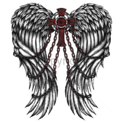 Wings, Cross, Chains, Cross, Gothic  PNG Images