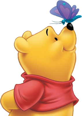 Butterfly Winnie The Pooh Png Desings PNG Images