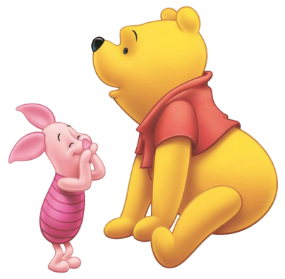 Piglet Together Clipart PNG Images