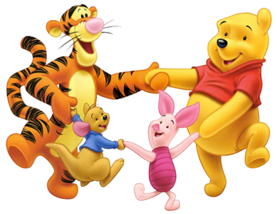 Tigger Winnie The Pooh Group Clipart PNG Images