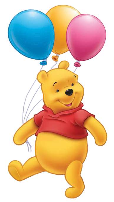 Winnie The Pooh Ballons Clipart PNG Images