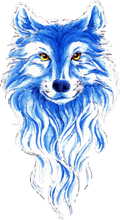 Blue Wolf Head Clipart Pictures PNG Images