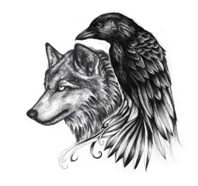 Eagle And Wolf Tattoos Png
