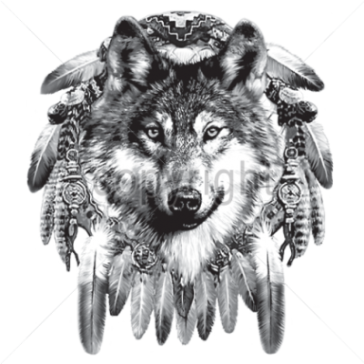 Table Wolf Tattoos Png PNG Images