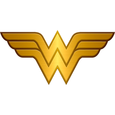 Gold Wonder Woman Logo Metallic Transparent Png PNG Images