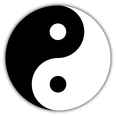 Black And White Yin Yang Tattoos Png PNG Images