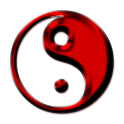 Red Top Heart Yin Yang Tattoo Images