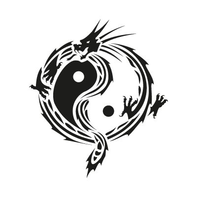 Yin Yang Dragon Vector Logo Pictures