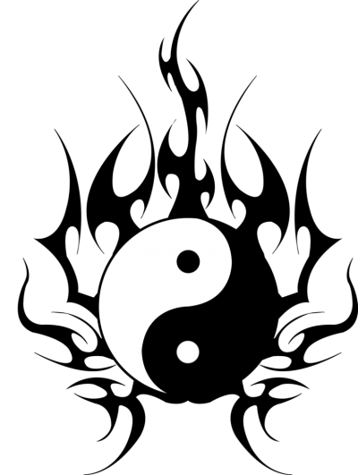 Yin Yang Tribal Design Png PNG Images