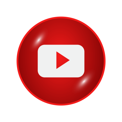 Glossy Digital Youtube Logo icon Transparent PNG Images