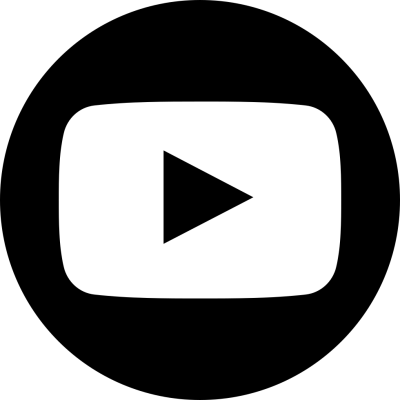 Black Youtube Circle icon PNG Images