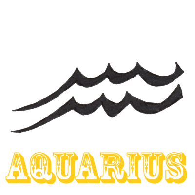 Aquarius Zodiac Sign Tattoo Design Pictures PNG Images