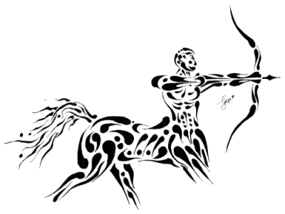 Horse Zodiac Tattoos Png Transparent Images
