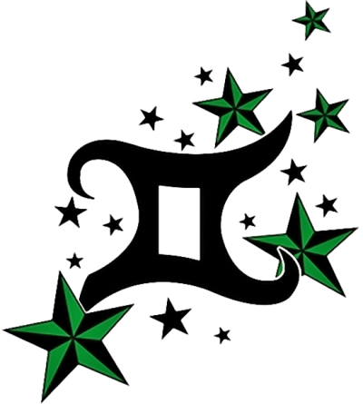 Nautical Stars And Gemini Tattoo Design Images PNG Images